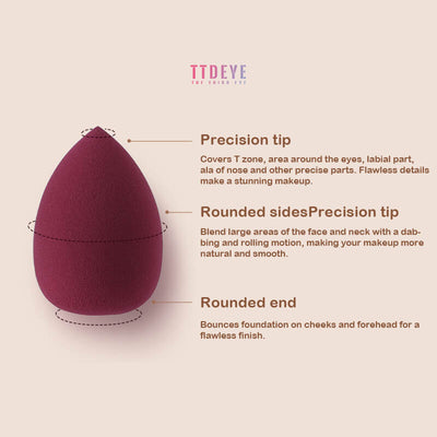 TTDeye Hot Pink Flawless Makeup Sponge