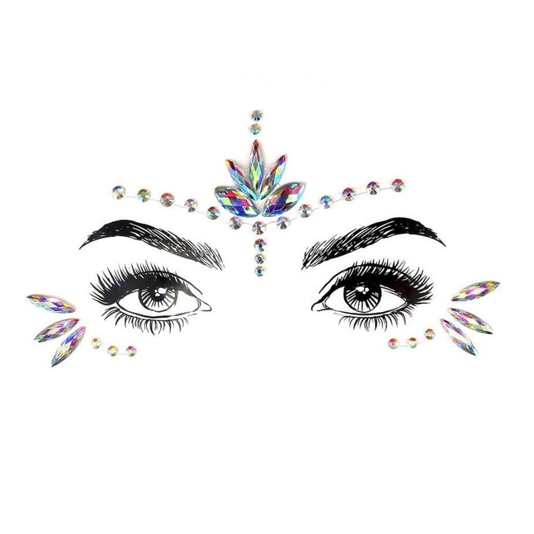 Flower Princess Rhinestone Crystal Face Jewels