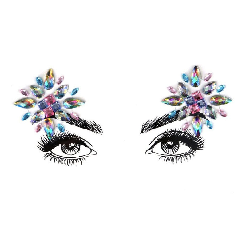 Fireworks Rhinestone Crystal Face Jewels