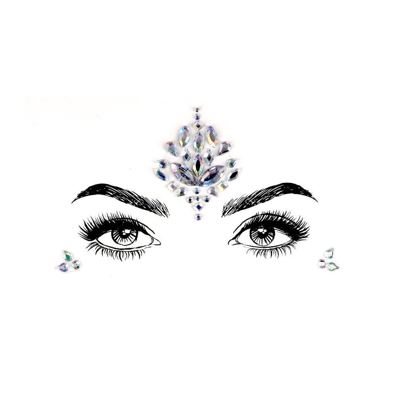 Pure Crystal Rhinestone Crystal Face Jewels