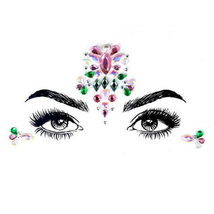 Lucky Flower Rhinestone Crystal Face Jewels