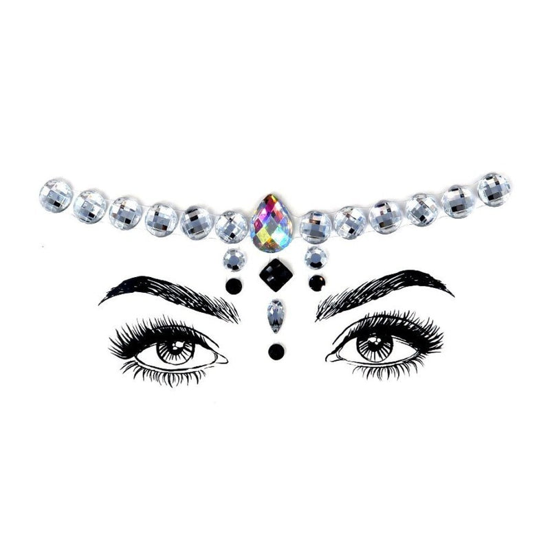 Cool Girl Rhinestone Crystal Face Jewels