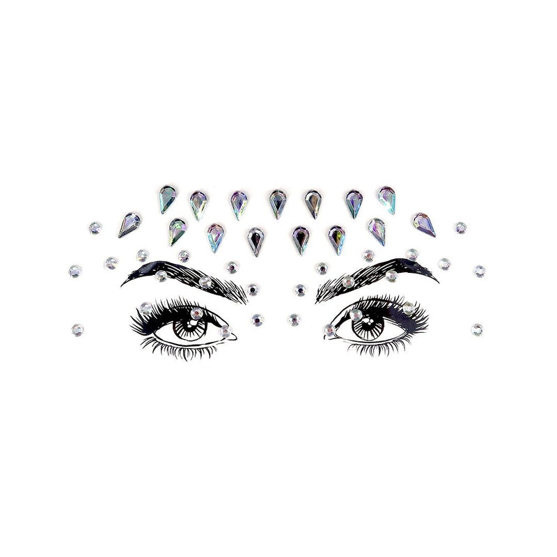 Raindrop Rhinestone Crystal Face Jewels