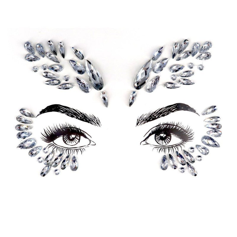 Eagle Queen Rhinestone Crystal Face Jewels