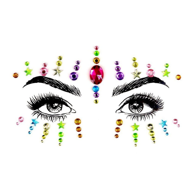 Disco Night Rhinestone Crystal Face Jewels