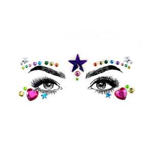 Starry Eyes Rhinestone Crystal Face Jewels
