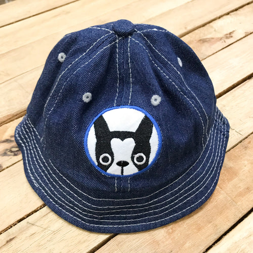 Frenchy Pup Kids Denim Bucket Hat