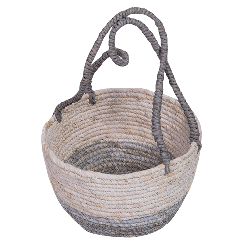 Seagrass Basket Long Handles-Small