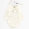 Baby Girl Knitted Rib Romper w/Collar