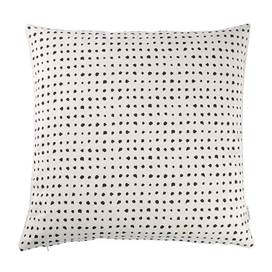 60x60cm Spotted Cushion - Black + White