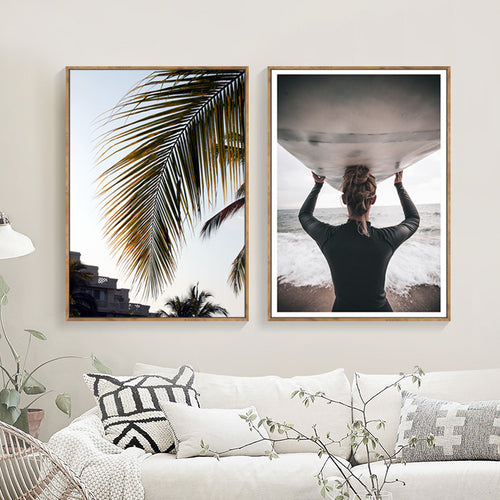 Palm Frond Canvas Print - Unframed