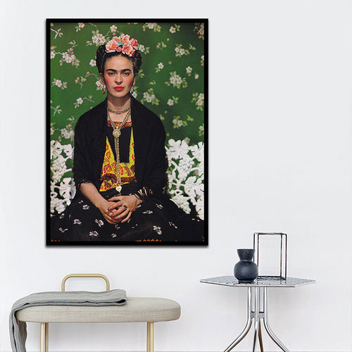Frida Kahlo Photograph Canvas Framed Print