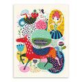 Colourful Abstract Children's Canvas Print - Unframed