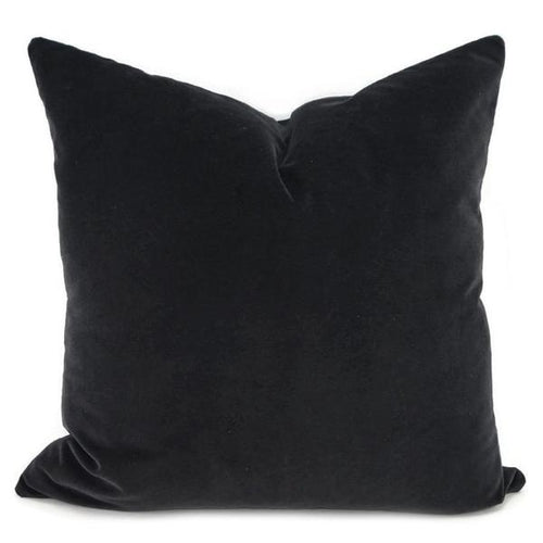 50cm Black Velvet Cushion