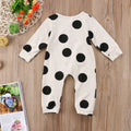 Spotty Long Sleeve Baby Romper