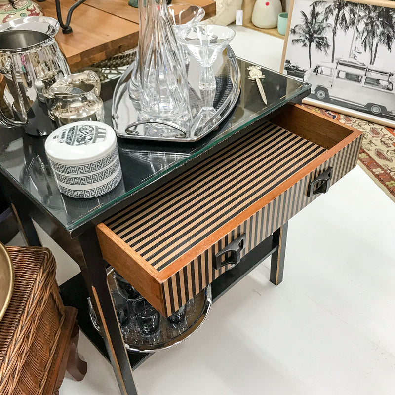 Striped Hall Table