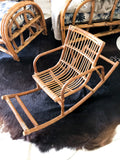 Vintage Kids Cane Rocking Chair
