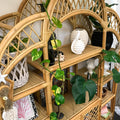 Vintage Cane Wall Unit - Boho Natural