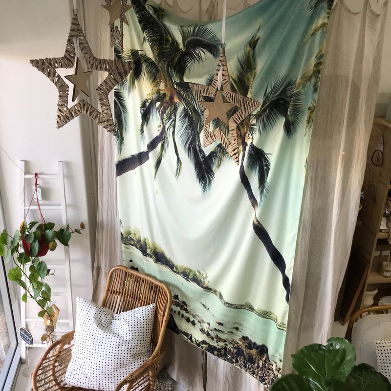 Printed Fabric Tapestry - Palm Trees