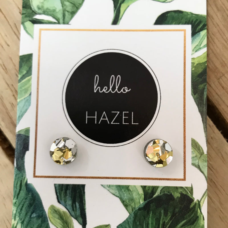 hello Hazel Earrings - Teeny Gold Glitters