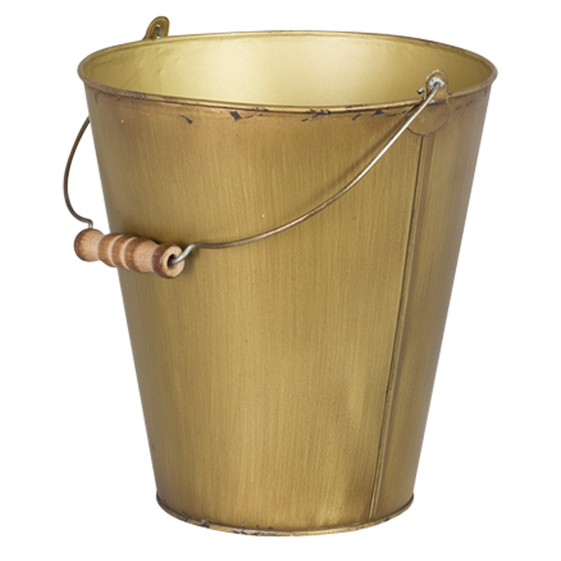 ANTIQUE GOLD ICE BUCKET