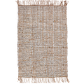 90x150cm Heavy Duty Leather + Jute Rug