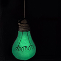 Glow in the Dark Light Bulb Pillow