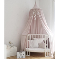 Large Kids Cotton Hanging Bed Tent-Pale Pink