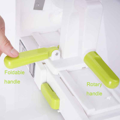 Folding 5 Blade Vegetable Spiralizer Slicer
