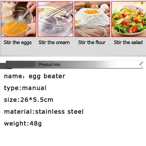Stainless Steel Manual Egg Beater