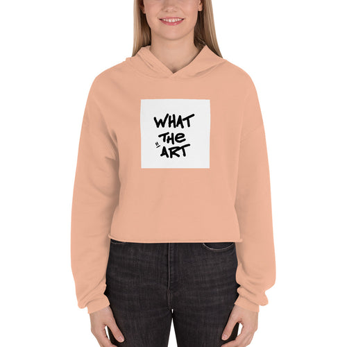 """What The Art"" Crop Hoodie"