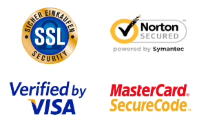 Secured with Shopify Secure, MasterCard SecureCode, Verified by Visa and Wirecard SSL protocol