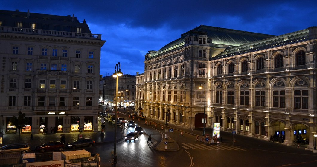 Vienna Opera at Night