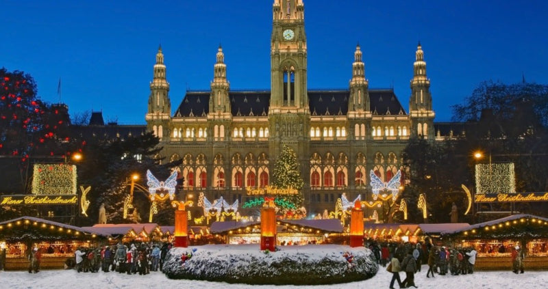 Christmas Market in front of the Viennese City Hall