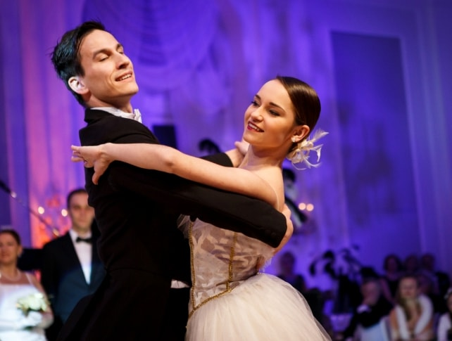 Ballet dancers during Johann Strauss Ball