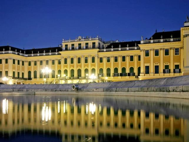 Schönbrunn Palace in the evening