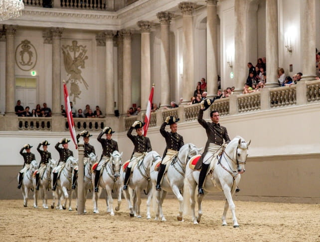 Spanish Riding School Performance, Lipizzaner