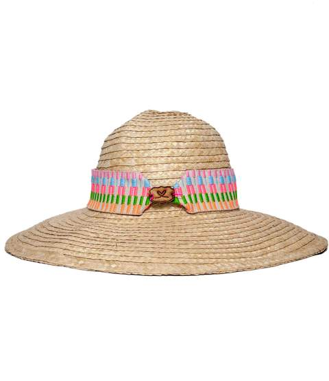 Floppy Straw Beach Hat with Wide Band