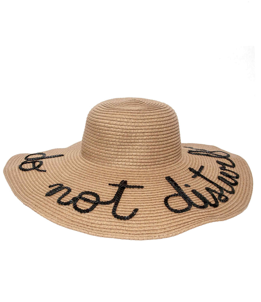 d4ffb6d792d Custom Wide Brim Sequin Message Floppy Sun Hat – Kalon Swim