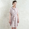 Dusty rose linen shirt dress by LHI