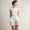 White linen shorts for woman by LHI