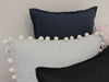 Linen pillow with Pom Poms by Lovely Home Idea
