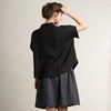 LHI black linen summer clothing for women