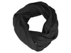 Black linen scarf by LHI