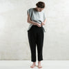Black linen womens trousers by LHI