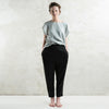 Black linen womens pants by LHI