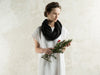 Black linen scarves by Lovely Home Idea