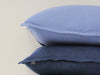 Blue linen pillow covers