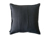 Charcoal linen decorative pillow cover back side