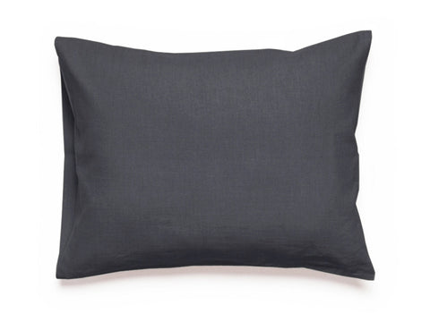 Charcoal linen pillowcase by Lovely Home Idea